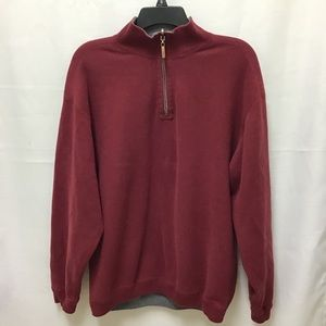 Tommy Bahama Maroon Pullover With Zipper, M